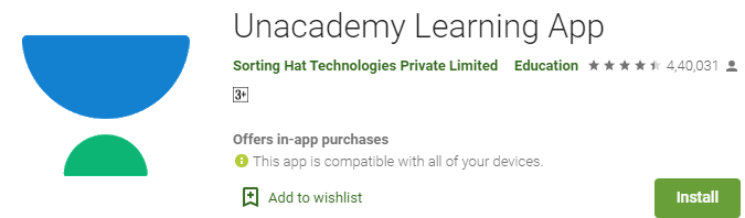 Unacademy - Best learning app