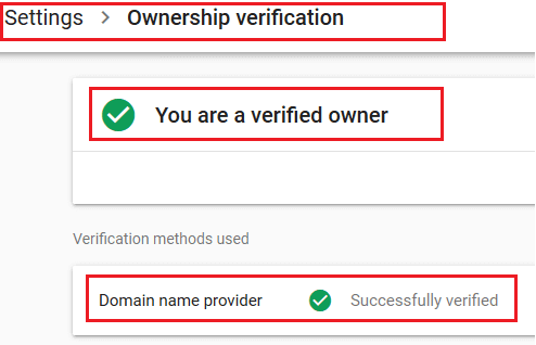 Verification verified