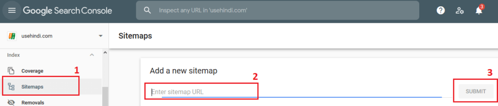 Add Sitemap in Google