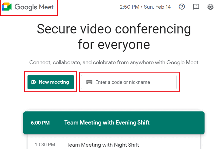 Google Meet in Hindi