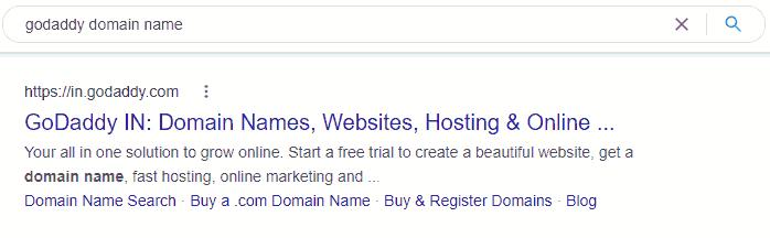 Godaddy Domain Search hindi
